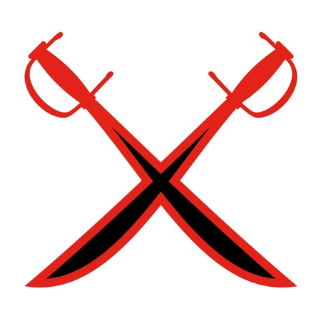 crossed: Design of two crossed swords