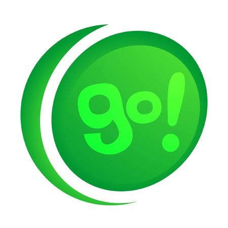 Icon go! Stock Vector - 10584703