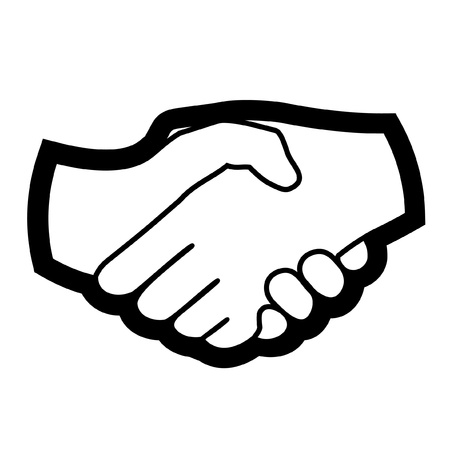 Two hands together Vector