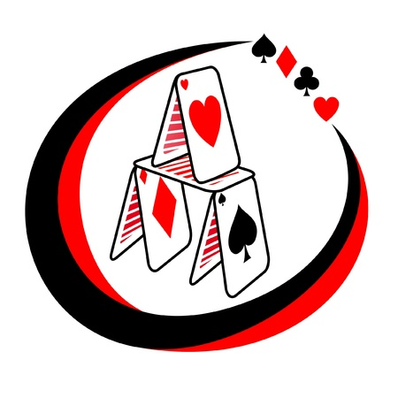 Abstract symbol poker game Vector