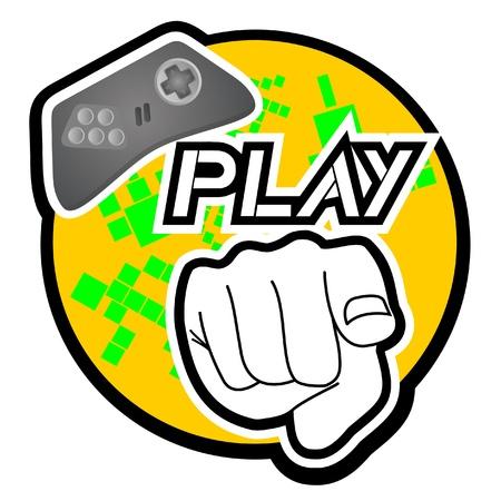 Play button Stock Vector - 10605650