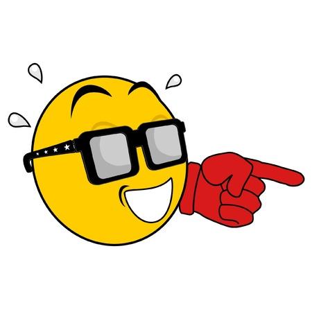 Emoticon Lachen zeigend Vektorgrafik