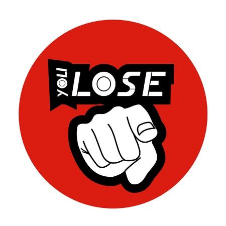 집게 손가락: 당신은 잃을 일러스트