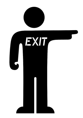 Puppet indicating the exit Vector