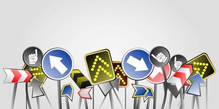 Banner traffic signals Stock Vector - 10658023