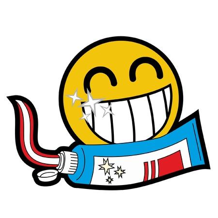 Visage amical avec des dents saines Vecteurs