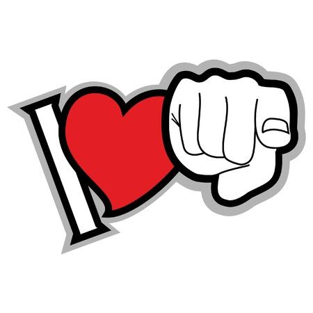 liebe: Botschaft der Liebe Illustration