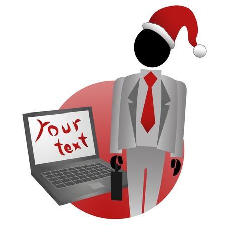 disfrazados: Ilustraci�n de Navidad de trabajador profesional Vectores