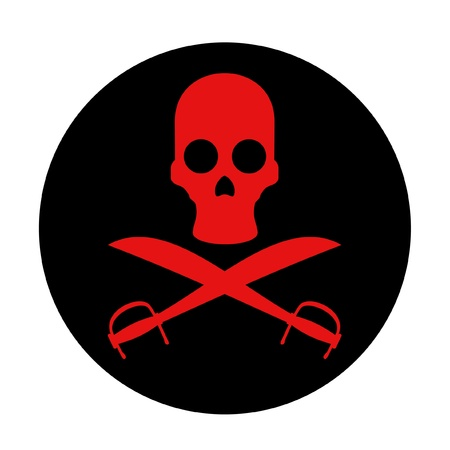 Red pirate symbol Vector