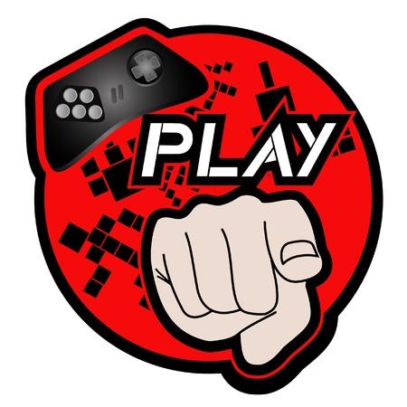 játék: Ikon a videojátékok Illusztráció