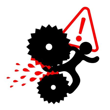 prevencion de accidentes: M�quina de peligro