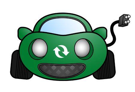 Electric green car Vector