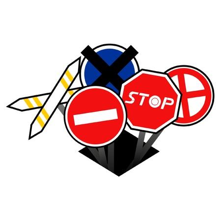 prohibido el paso: No hay signos de allanamiento Vectores