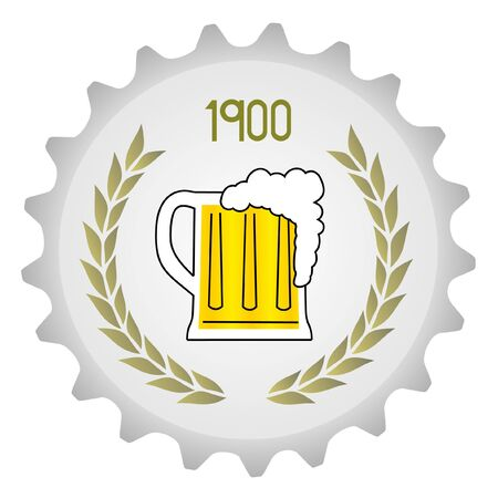 oval  alcohol: Icon of a beer mug Illustration
