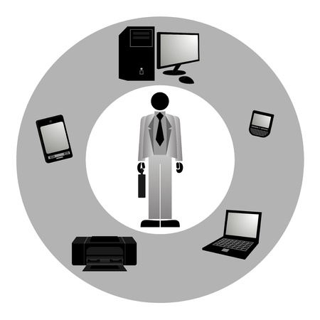 Computer business professional Stock Vector - 10658032