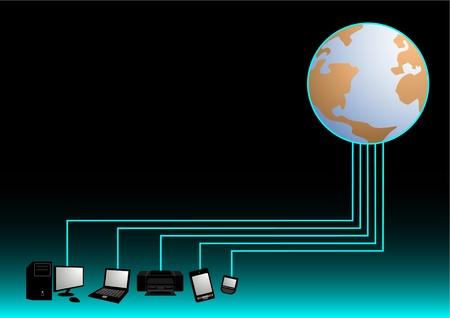 World tech Stock Vector - 10659012