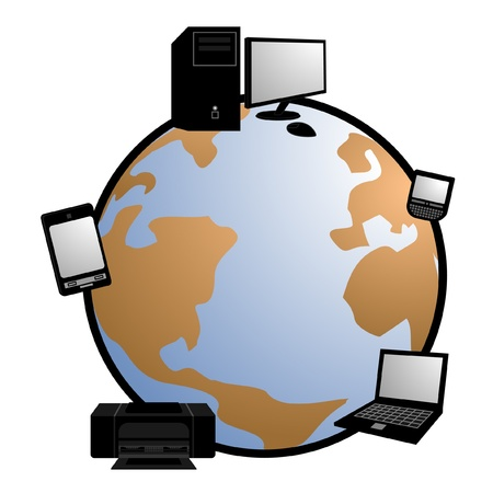 Technological devices around the world Stock Vector - 10658031
