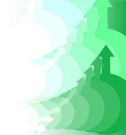 pointing up: Sfondo verde con le frecce verso l'alto