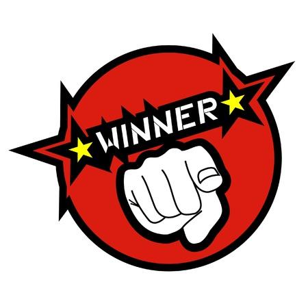 Wijzend naar de winnaar Stockfoto - 10659034