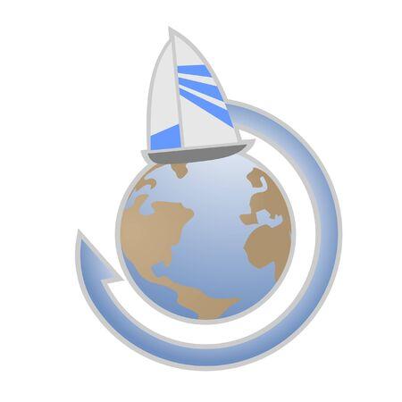 embarked: Sailing ship around of the world