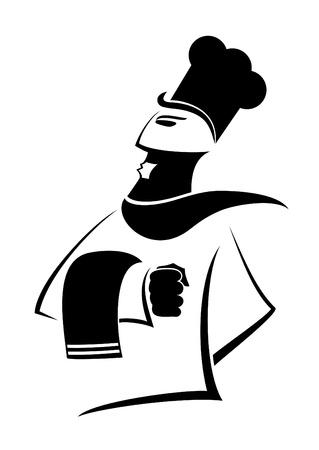 Design of elegant chef Vector