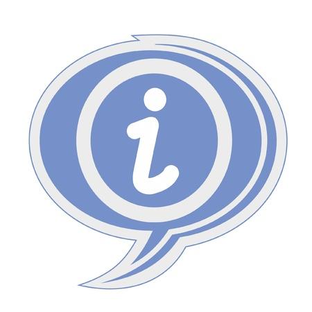 Blue information symbol Vector