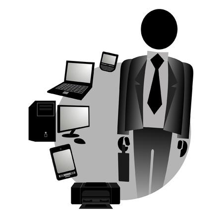 Business tech Stock Vector - 10729069