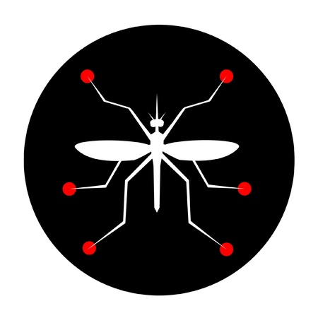 Abstract icon of an insect Vector