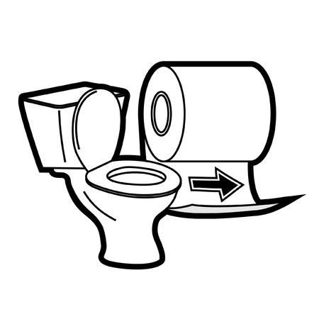 papel de baño: Que indica el servicio Vectores