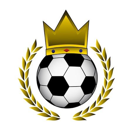 king crown laurel icon round: King football
