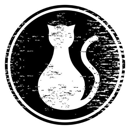 black cat silhouette: Black cat icon
