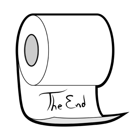 toilet roll: End paper Illustration