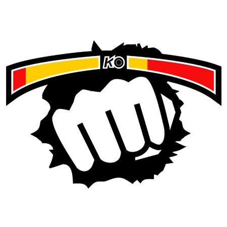 peleando: Pu�o de combate de dise�o de juegos
