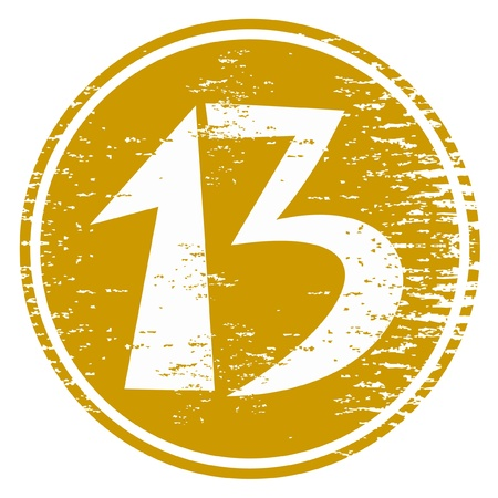 Thirteenth icon Vector