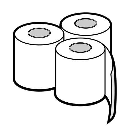 role: Three rolls of toilet paper Illustration
