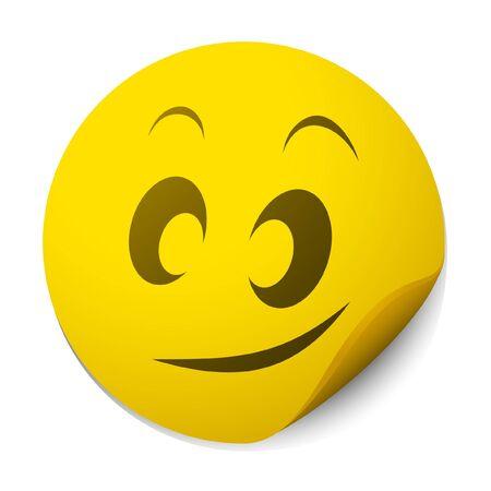Smiley face sticker Stock Vector - 10749155