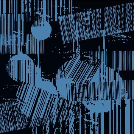 decor graphic: Astratto sfondo nero e blu