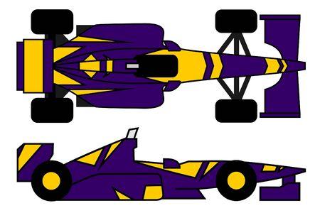 purple car: Purple racing car Illustration