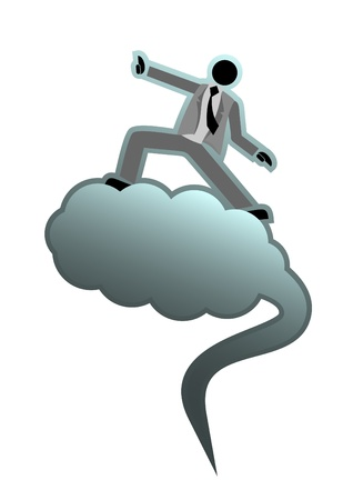 Relaxing on a cloud Stock Vector - 10749154
