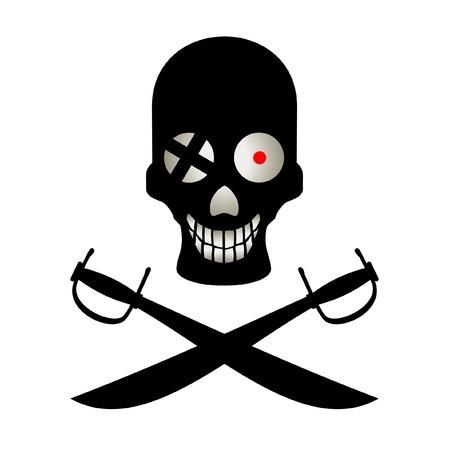 squinting: Illustration of funny pirate symbol Illustration