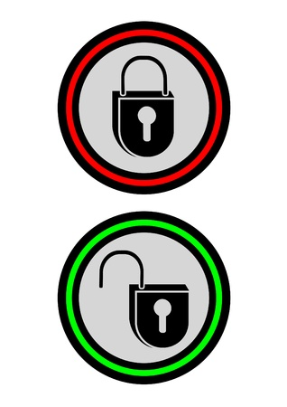 Icons locks open and closed Stock Vector - 10829003