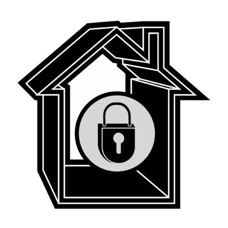 Lock house Stock Vector - 10800027