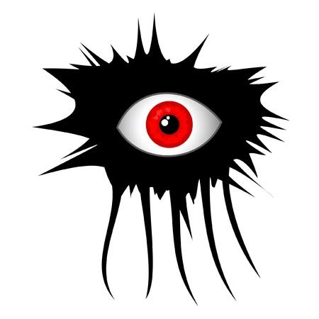 disfrazados: Dise�o de maquillaje creativo en los ojos rojos Vectores