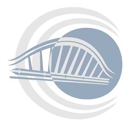 Creative design of modern urban bridge Stock Vector - 10800024