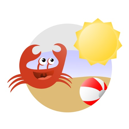 have fun: Crab on the beach