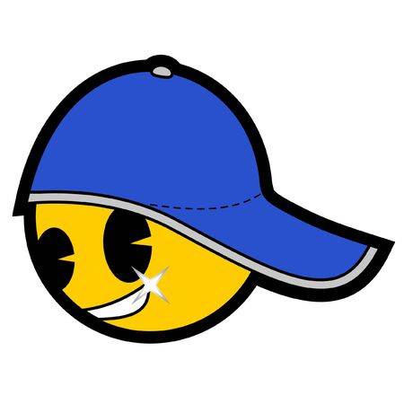 complement: Emoticon with cap Illustration