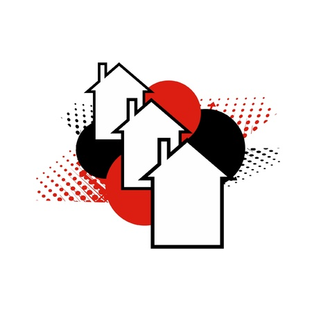 Abstract design of a neighborhood Stock Vector - 10829028