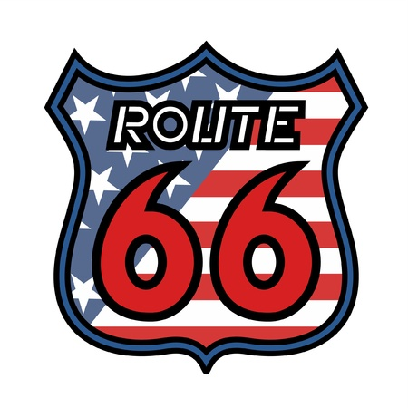Route 66 in america Vector