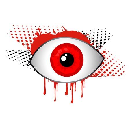 oeil rouge: La conception des yeux rouges