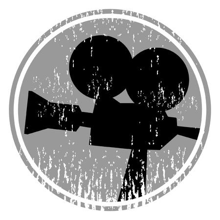 rec: Pellicola vecchia macchina fotografica Vettoriali